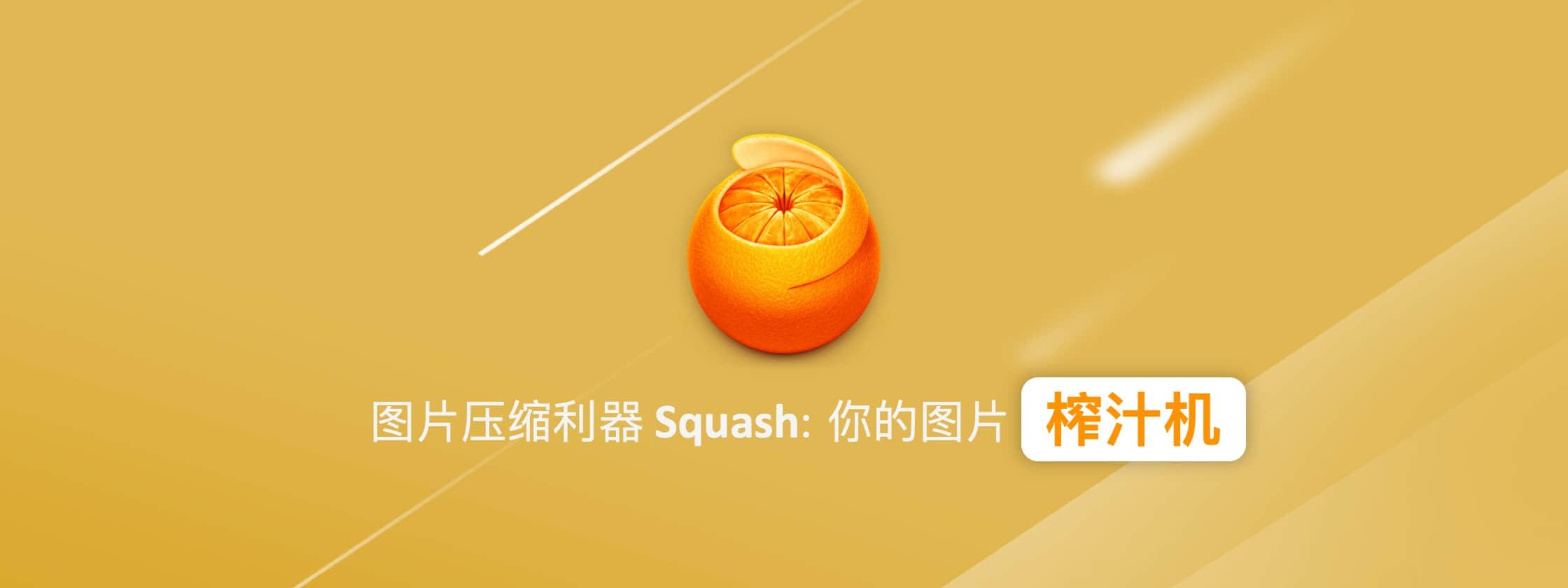 图片体积大不好保存?在线压缩怕不安全?快来试试 Squash