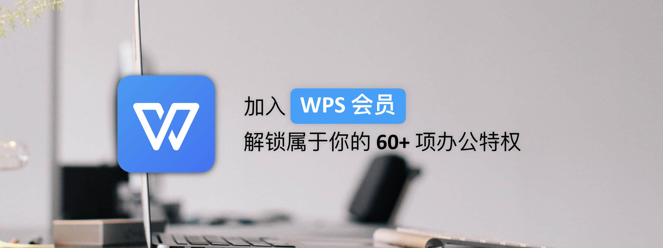 加入 WPS 会员,解锁属于你的 60+ 项办公特权