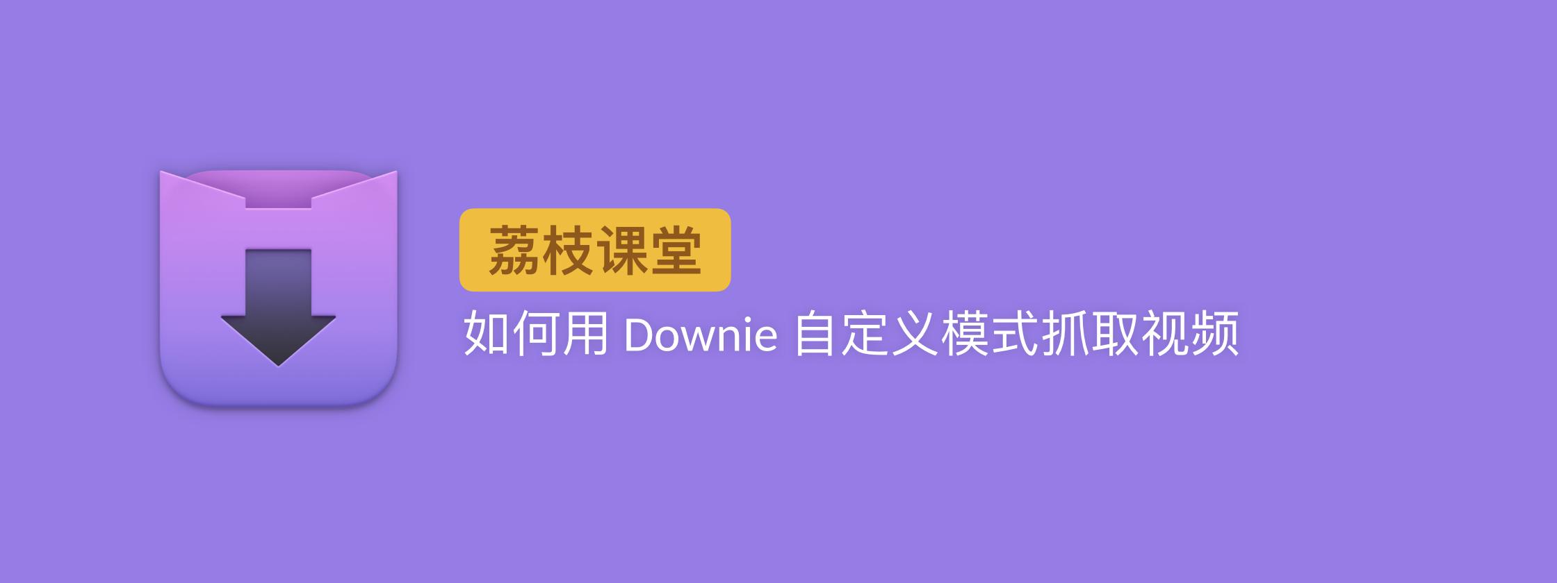 荔枝课堂 | 如何用 Downie 自定义模式抓取视频